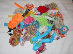 30 Assorted Shabby Flower Headbands in sz. small.  https://www.facebook.com/photo.php?fbid=10152116011446917=oa.586568858053858=3