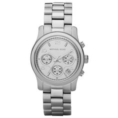 Michael Kors Ladies' Chronograph Watch In Silver - Beyond the Rack