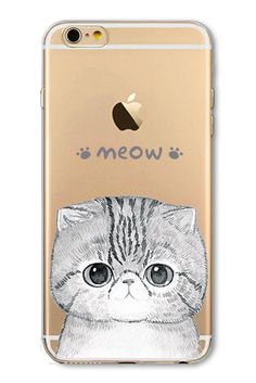Cute Cat Phone Case For Apple iPhone - Flexible Soft Rubber Protective Cover