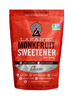 Lakanto Monk Fruit Sweetener All Natural Sugar Substitute, Classic White, 28.2 Ounce (800g)
