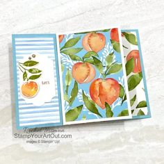 Click here to see a Six-Panel Pinwheel Tower card that shows off the Sweet Symmetry Designer Paper, In Symmetry Stamp Set, and Expressions in Ink Ephemera Pack as well as a Four-Panel Pinwheel Tower card that shows off the You're a Peach Designer Paper, Sweet As a Peach Stamp Set, Peach Dies, and Champagne Rhinestones. Access more photos, measurements, tips, and a supply list by clicking here. Stampin' Up!® - Stamp Your Art Out! www.stampyourartout.com #stampyourartout #stampinup Tower Design, Box Design, Paper Tower, Online Paper, Supply List, Fun Fold Cards, Glue Dots, Paper Pumpkin, Community Art