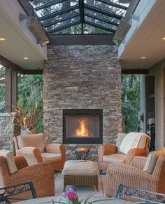 outdoor living room furniture, outdoor living room with fireplace , outdoor living room design , outdoor living room cost , outdoor living room and kitchen Outdoor Living Rooms, Cozy House, Living Room Designs, House Plans, Sweet Home, New Homes, Outdoor Decor, Home Decor, Dream Houses