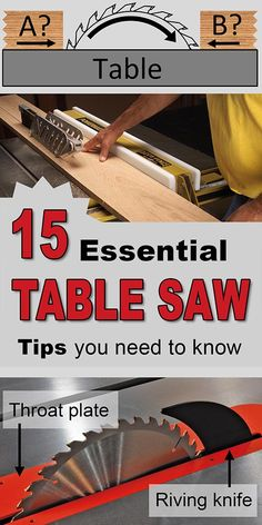 Table saw tips for c