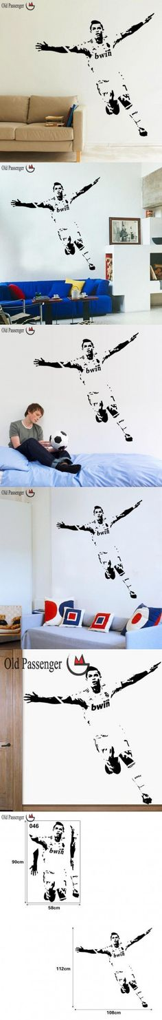 Old Passenger _ Home Decor Wall stickers PVC Vinyl Removable Art Mural Home decor Football Cristiano Ronaldo $4.99
