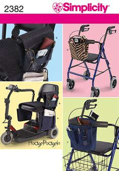 Bags for wheelchair, scooter, or walker #sewing