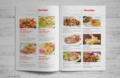 Buy Food Recipes Brochure Catalog Design by Jbn-Comilla on GraphicRiver. Food Recipes Brochure Catalog Design Creative, Clean and Modern Food Recipes Brochure Catalog Template, ready to u. Recipe Book Design, Cookbook Design, Food Design, E Design, Graphic Design Typography, Modern Graphic Design, Food Catalog, Modern Food, Catalog Design