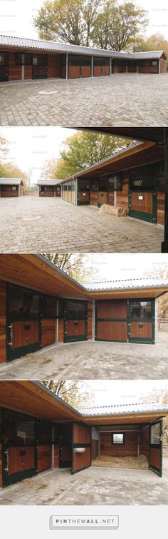 Paved stable yard instead of concrete