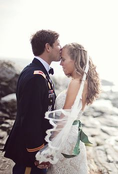 Brides.com: Hairstyles for a Destination Wedding. Rustic Waterfall Braids for a Seaside Wedding. Free-flowing waterfall braids are the perfect complement to a seaside ceremony. This bride's romantic, loose locks look like they were made for her wedding's rustic Maine setting. Browse more from this rustic Maine wedding.