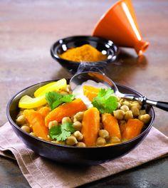 Recette de Tajine de carottes et pois chiches issues de Cookidoo.fr