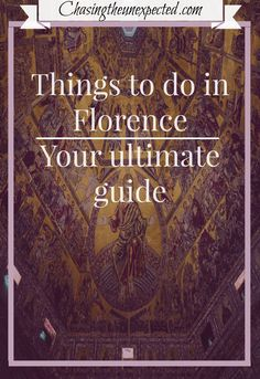 Do you want explore the beautiful Florence in Tuscany region? Check out the list of the top things to do, see and eat in Florence. Santa Maria Del Fiore, Ponte Vecchio, Giotto's Bell Tower, Basilica Di San Lorenzo and many more landmarks that can't be missed in the Birthplace of Renaissance