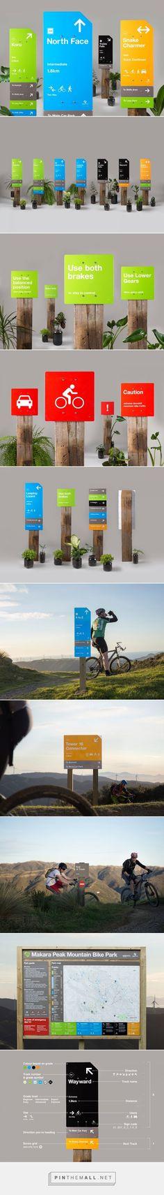 Makara Peak Mountain Bike Park Wayfinding on Behance