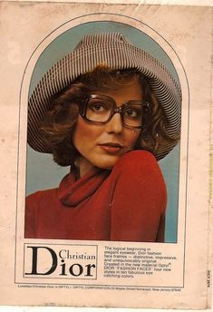 Dior Eyeglasses for sale Christian Dior Vintage, Vintage Dior, Vintage Ads, Vintage Posters, Patti Hansen, Lauren Hutton, Dior Eyeglasses, Cristian Dior, Christian Dior Sunglasses