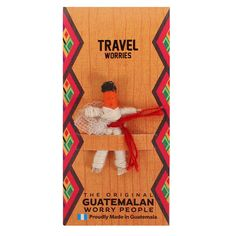 Travel Worry Doll - Something Different Wholesale Red Company, Santa's Magic Key, Worry Dolls, Baby Hedgehog, Family Ornament, Mother And Baby, No Worries, Maya, Traveling By Yourself