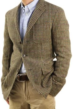 Gentleman's Miscelanea #Blazer #Cafe #Estampado #Pata-de-gallo Mature Mens Fashion, Mens Fashion Blazer, Business Casual Men, Men Casual, British Style Men, Harris Tweed Jacket, Mens Attire, Gentleman Style, Stylish Men