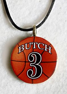 Mom's Love these - Personalized Sports Pendant Necklace Your Name Number $10.00