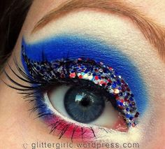 4th of July makeup look! Check out my facebook page: https://www.facebook.com/pages/GlitterGirlC/169478716487621