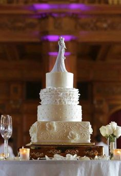 Wedding cake from Heavenly Sweets, Noblesville, IN best cake I've ever eaten! Wedding Vendors, Wedding Cakes, Sweets Cake, Occasion Cakes, Custom Cakes, Cake Pops, Heavenly, Real Weddings, Wedding Inspiration