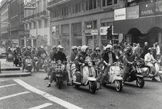 Mods at the opening of the 1979 film Quadrophenia, about the Brighton battle...