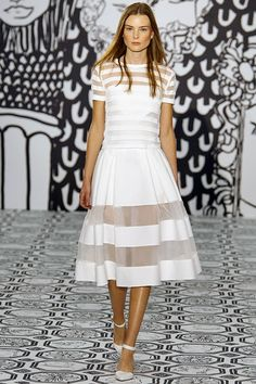 Jasper Conran, spring/summer 2014, #LFW, Catwalk 5. another all white everything outfit, fit for a spring day.