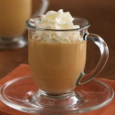 Caramel Spiced Eggnog... An easy no-cook eggnog recipe made with pudding, evaporated milk and spices A quick treat ready in just 10 minutes!