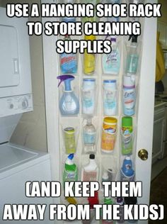 @Rebekah Ahn Hatch wonder if we could do this to the laundry room door?  then free up space below the sink for Lew's food and treats?  trying to declutter and organize our kitchen!!  the gadgets are taking over counter space!!    :)  all of Lew's stuff could go under the sink.