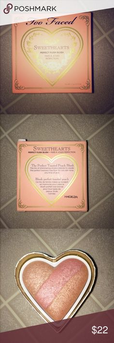 Too Faced perfect toasted peach blush NWT NWT in original box and never before used Too Faced toasted peach blush. beautiful color and with a little bit of sparkle. perfect for summer time! NO TRADES Too Faced Makeup Blush