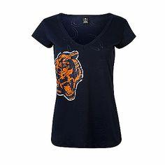Nike Chicago Bears Women's Of The City V-Neck T-Shirt - Orange