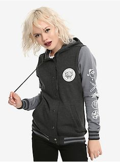Supernatural Girls Varsity Jacket | Hot Topic