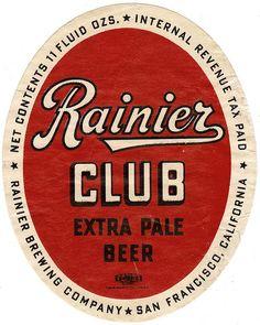 Rainier Club Extra Pale Beer