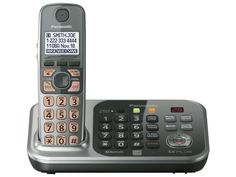Panasonic KX-TG7741S-220 one handset 220-240 volts 50/60 hz cordless phone with Digital Answering System,Amplified Handset Volume with Dedicated Volume Key and Tone Equalizer