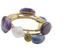 Crystal Wire Bangle Set of 3 Amethyst Rose Quartz Blue Stone Agate ** Want to know more, click on the image.