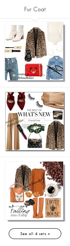 Fur Coat by helena-bekker on Polyvore featuring Theory, Levi's, Steve J & Yoni P, Yves Saint Laurent, Justine Clenquet, J.W. Anderson, Vince, MaxMara, Gucci and Plukka