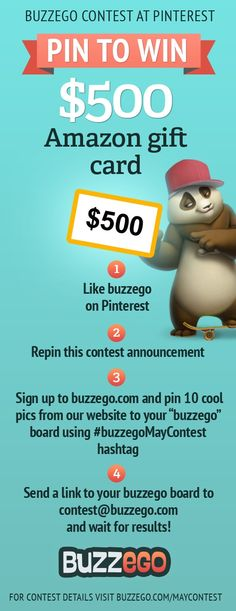 #ad Enter buzzego May contest to win $500! #buzzegoMayContest
