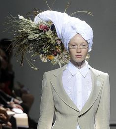 junya watanabe couldn't decide on a career - librarian? florist? or washer woman?