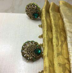 Saree Kuchu New Designs, Saree Tassels Designs, Blouse Designs, Tika Jewelry, Indian Jewelry, Indian Bridal Fashion, Saris, Bridal Style, Hand Embroidery