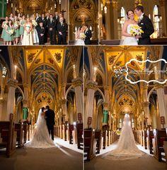 Notre Dame wedding photos, South Bend, Indiana, Basilica of the Sacred Heart.  ©Jennifer Mayo Studios.  www.jmstudios.com