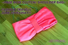 H&M Clutch/Bag June + May Haul 2013 video! Bow Clutch, Fun Time, Travel Style, Romwe, Giveaways, Bangle, Give It To Me, Join, Entertainment