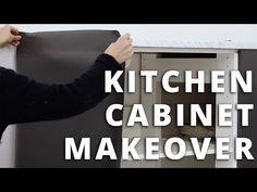 VIDEO - HOW TO: Montere kontaktplast på kjøkkenskap. Få et trendy kjøkken i antrasittgrått. Se på Youtube her. Kitchen Cabinets, Madness, Kitchen Cupboards, Kitchen Shelves