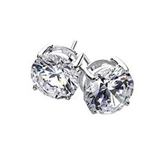 Bling Jewelry Basket Set Mens Round CZ Stud Earrings 925 Sterling Silver 6mm  http://electmejewellery.com/jewelry/mens-jewelry/mens-earrings/bling-jewelry-basket-set-mens-round-cz-stud-earrings-925-sterling-silver-6mm-com/