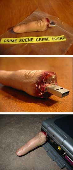 finger flash drive. there are a bunch of unique flash drives on this site