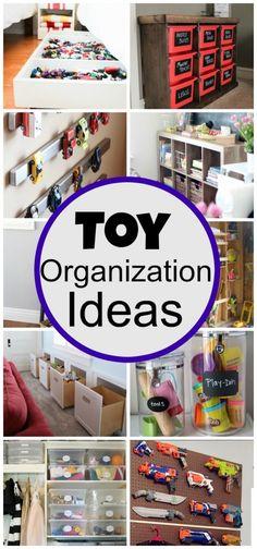DIY Toy Organization Ideas - Click for more - www.classyclutter.net