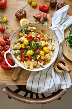 Make Cooking Easier - Food & Photography by Zosia Cudny Fried Tomatoes, Baked Cauliflower, Tahini, Chana Masala, Food Inspiration, Food Photography, Oven, Good Food, Easy Meals
