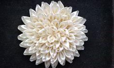 Хризантема Канзаши / DIY Kanzashi Flowers часть 2