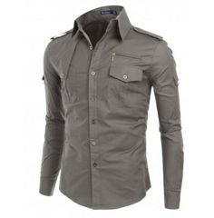 mens shirt DOUBLJU. Kind of like the industrial look of this one