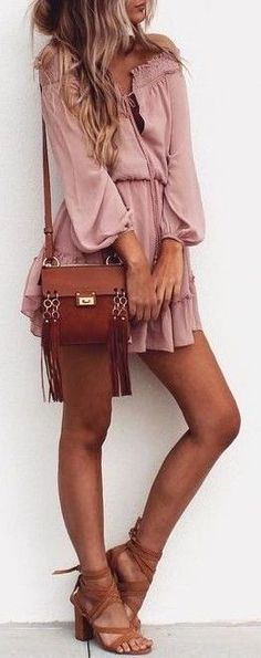 #summer #outfits / pink boho