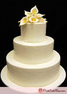 Ivory Sugar Calla Lilly Wedding Cake by Pink Cake Box Elegant Wedding Cakes, Wedding Cakes With Flowers, Wedding Cake Designs, Cake Wedding, Wedding Ideas, Cake Images, Cake Pictures, Calla Lillies Wedding, Calla Lilies