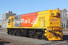 EMD Diesel locomotive from G12 series at Wellington in New Zealand