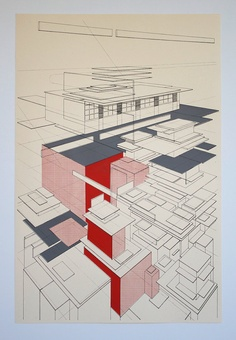 3 color architecture by benkafton on Etsy, $60.00