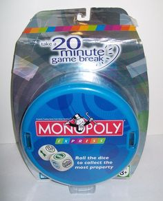 NEW Monopoly Express Dice Game 20 Minute Game Break Parker Brothers #ParkerBrothers