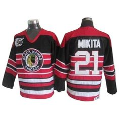 Stan Mikita jersey-80% Off for CCM Stan Mikita Authentic Throwback Men s  75TH Jersey - NHL Chicago Blackhawks  21 Red Black from official Reebok NHL  Chicago ... a5935a5be